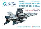 Quinta QD48051 1/48 F/A-18F late / EA-18G 3D-Printed interior for Hasegawa kit