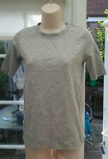 RIVER ISLAND GREY SHORT SLEEVED SUBTLE PATTERNED CASUAL TOP - SIZE 6