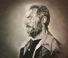 Original 14x17 charcoal drawing of Logan/Wolverine/X-Men done by artist ARTuro
