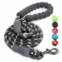 Heavy Duty 5ft Pet Dog Leash Lead Strap Padded Handle Large Puppy Training Belt