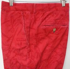 LILLY PULITZER FLAT FRONT BERRY RED CORDUROY CORKSCREW & BOTTLE OPENER PRINT 40