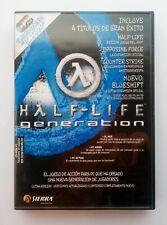 HALF-LIFE GENERATION DE VALVE - 4 Títulos PC CON 4 CDs halflife half life Sierra