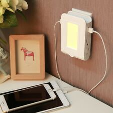 USB 4-in-1 Charger, Surge Protector & Night Light Wall Adapter