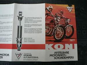 0343 KONI VINTAGE BROCHURE AFSTELBARE MOTORFIETS SCHOK SHOCK ABSORBERS 1977