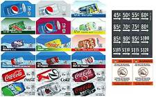 Coke, Pepsi, Soda, flavor strips vendinglabels 36 total