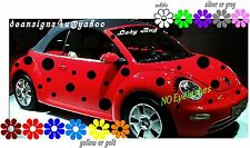 ANY Car Spots Dots 50 Ladybug Set volkswagen Mini Pt Decal Red bug VW Bonus USA