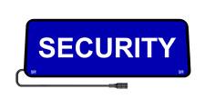 Safe Responder X - SECURITY - Blue - SRX-095 - LED Sun Visor Sign