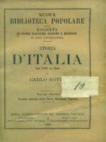 Storia D'Italia Dal 1789 IN The 1814 Volume Secondo Books Antique/Modernism