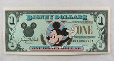 "Series 1991 Mickey Mouse $1 Disney Dollar Bill Disneyland Series ""A"""