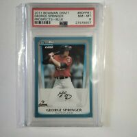 "GEORGE SPRINGER ""RC"" 2011 Bowman Draft Prospects-Blue #BDPP81 -SP479/499 -PSA 8"