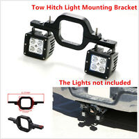 Tow Hitch Light Mounting Bracket Dual Reverse Rear For Offroad Work Lamps Lights