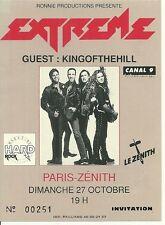 RARE / TICKET BILLET DE CONCERT - EXTREME : LIVE A PARIS ( FRANCE) 1991