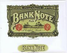 Banknote currency 1930's original  inner cigar box label
