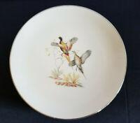 Game Birds Flintridge China Gold Trim 8 Dinner Plates 2-Each 4 Bird Designs VNTG