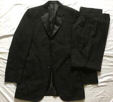 Marks & Spencer Mens Black 2 Piece Tuxedo Evening Suit 38XL Jkt 34L Trousers