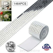 1464 Pieces Mirror Mosaic Tiles 5mmx5mm Glass Craft Small Square Mirrors Bulk Us