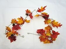 Artificial Maple & Oak Leaf Garland With Acorns - 180cm -  Autumn