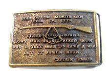 Vintage LIne of The Minute Men Rifle Belt Buckle By Instyle, Prov, R.I.