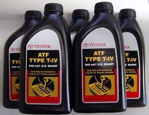 5 Quarts Toyota / Scion Automatic Transmission Fluid Type-4 ATF - OEM NEW!