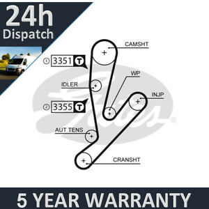 Gates Timing Belt For Fiat Ducato (2002-) Iveco Daily (2002-) 5Yr Warranty G2933
