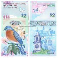 Bermuda 2 Dollars 2009 Hybrid Prefix  A/1  P-57b  Banknotes UNC