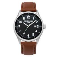 Ben Sherman WB065BT Men's Black Dial Brown Leather Strap Watch