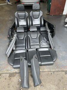 Audi A4 S4 B6 B7 Recaro Black Leather Memory Interior Seats