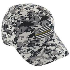 GOLD Line American Flag Dispatch Dispatcher Digital Camo Baseball Hat Cap