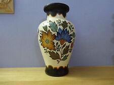 "Gouda Plateel Holland Handwwerk Vase ""Flora"" Design 434 vintage"