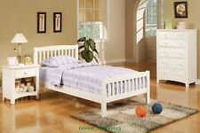 GMPD_ 36''H/22''H Concise Twin Size Bed Frame- Arch Design White Wooden FInish