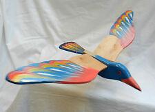 HAND MADE brillantemente dipinto in legno Bird mobile-Nuova con etichetta-assortiti Designs