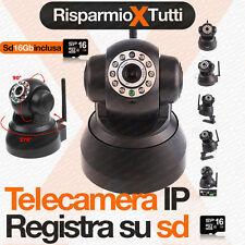 TELECAMERA SORVEGLIANZA DVR IP CAM REGISTRA SU SD 16 GB WEB + 3G INTERNI ESTERNI