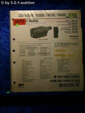 Sony Service Manual CCD TR530E /TR550E /TR570E /TR650E /TR750E (#3679)