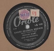 "Brother Bones - Sweet Georgia Brown 10"" Sgl 1960 78 rpm"