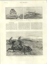 1892 Sister Edith Ward New German Ironclad Churchill Hunting Ostrich