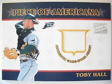2003 TOPPS PIECE OF AMERICANA GAME USED JERSEY, TOBY HALL ,TAMPA BAY  !! BOX 19