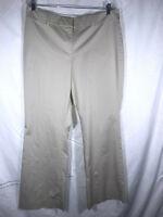 Ann Taylor Size 12 Light Tan Khaki Pants PERFECT Smooth Cotton Womens