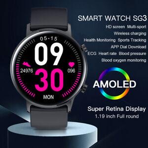 2020 Microwear SG3 Sports Smart Watch Wireless Charging Fitness Tracker VS SG2
