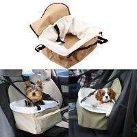 Travel Pet Car Seat Basket Cat Dog Puppy Carrier Bag Handbag Gear Booster Safety
