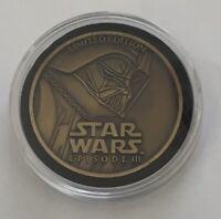 Star Wars Episode 3 Darth Vader Limited Edition 2005 Challenge Coin Medallion