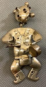 Vintage Navajo Native American Walter Vandever Kokopelli Sterling Silver Pendant