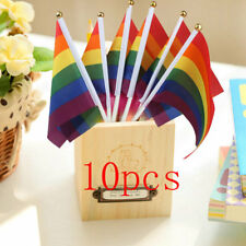 12pcs Gay Pride Lesbian Peace LGBT Rainbow Flag Banner Festival Carnival