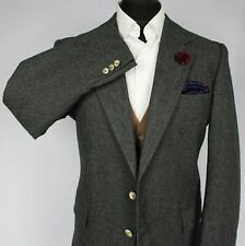 Burberry Blazer Jacket Grey Designer 44R 100% VIRGIN WOOL 2538
