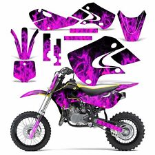 Decal Graphic Kit Kawasaki KLX110 KX65 KX Dirt Bike Suzuki RM65 DRZ110 ICE PINK