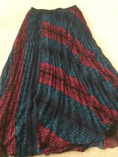 Forever 21 Pleated Maxi Skirt NWOT Sz Large Lined F21 Fully Lined