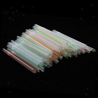 100 Pcs Premium Disposable Plastic Flexible Bendable Wide Straws Mixed Color
