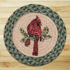 "CARDINAL 100% Natural Braided Jute Swatch 10"" Trivet/Placemat, by Earth Rugs"