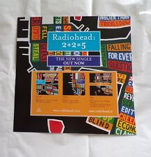 "Radiohead '2+2=5' Display Promo Card Flat 12"" x 12"""