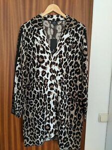 Monari Damen Strickjacke mit Leoparden Print