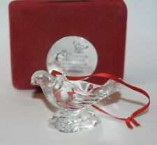 1996 Waterford The 12 days of Christmas Turtle Dove Ornament As Is